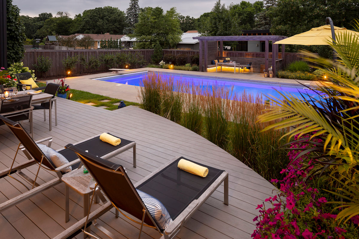 Backyard Oasis deck designed by LIVIT Site + Structure