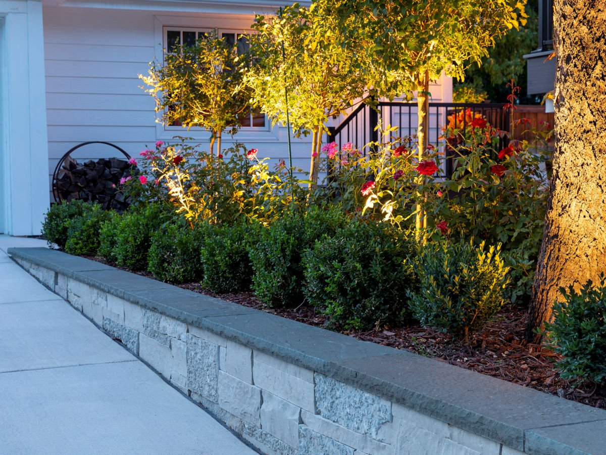 sidewalk plantings in Beach House Beauty front yard landscape by Tim Johnson at LIVIT