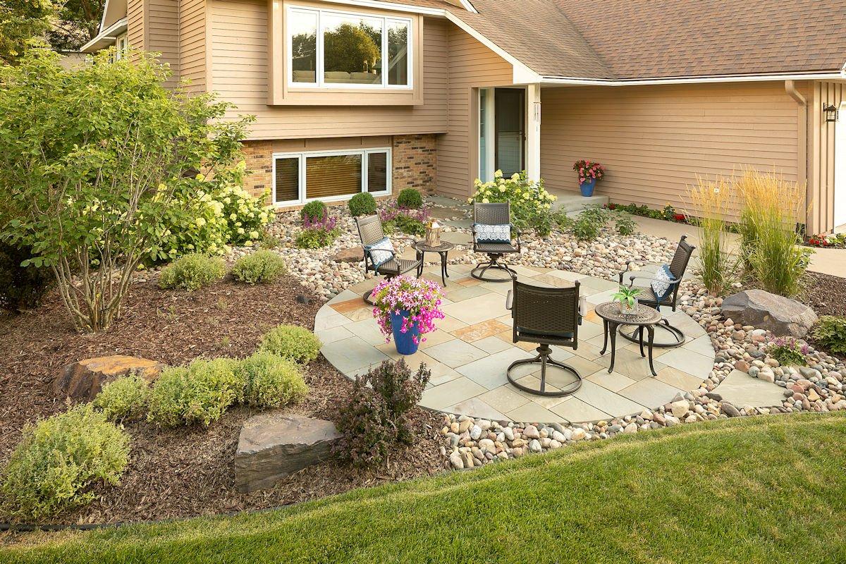 Happy Hour Haven low-maintenance landscaping by LIVIT Site + Structure