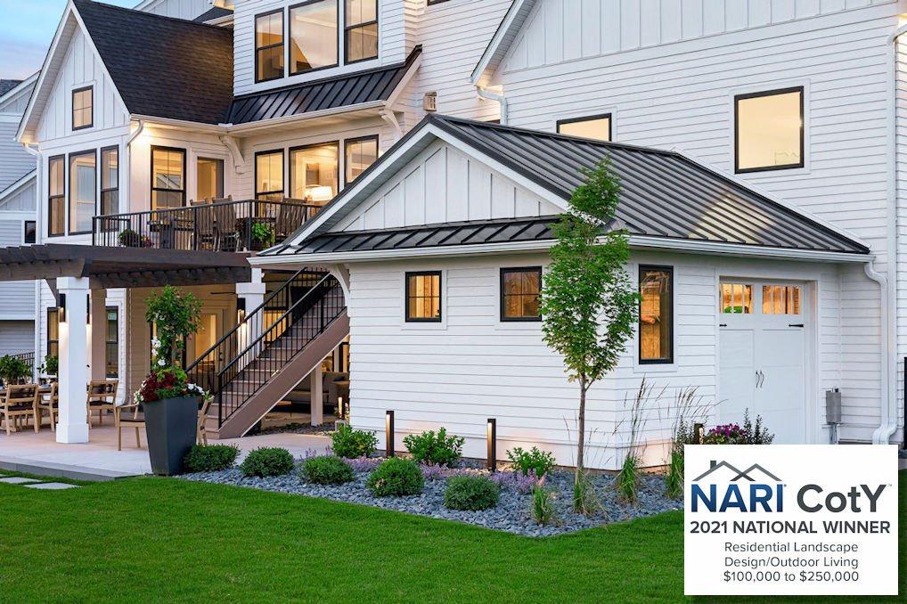 2021 NARI national winner for Landscape Design over 100K